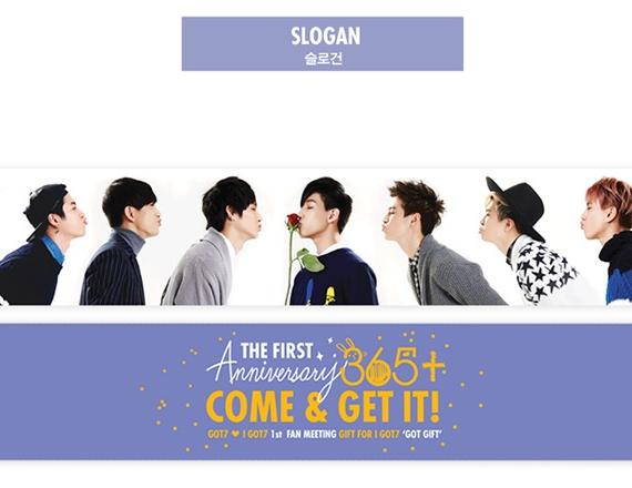 got7 1st slogan