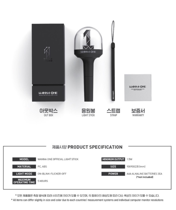 Wanna One Official Lightstick Beadsofbullets